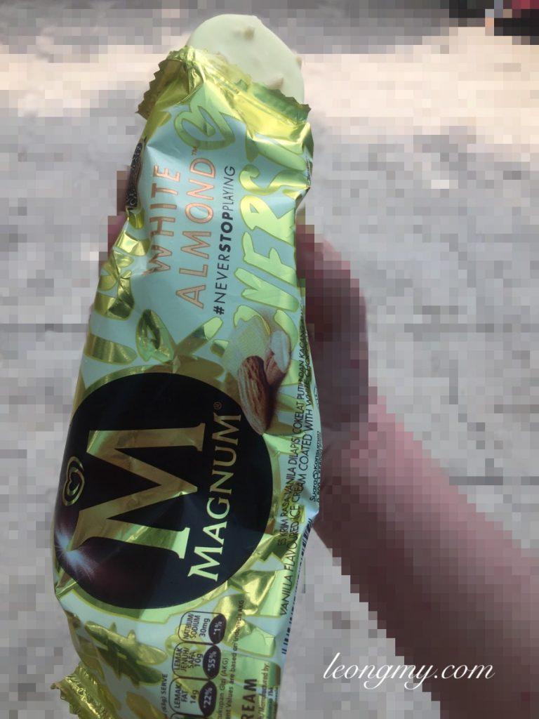 Magnum White Almond ice cream