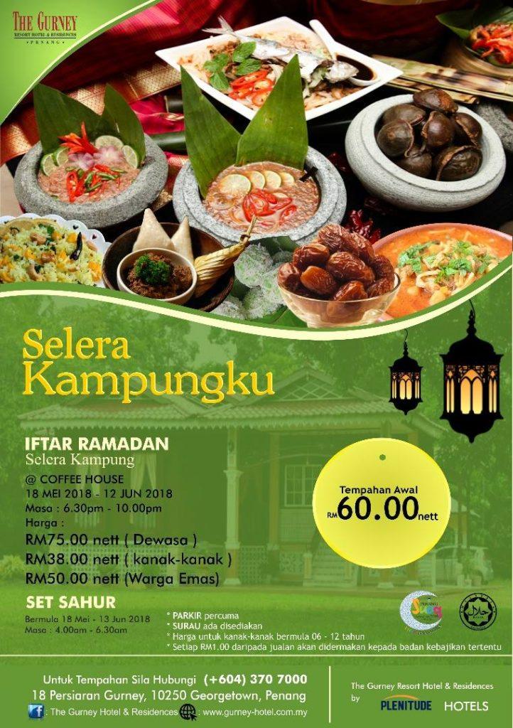 The Gurney Hotel's Selera Kampungku, Ramadhan 2018 Buffet flyer